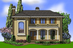 Sunbelt Home Plan Front Image - 011S-0136 | House Plans and More