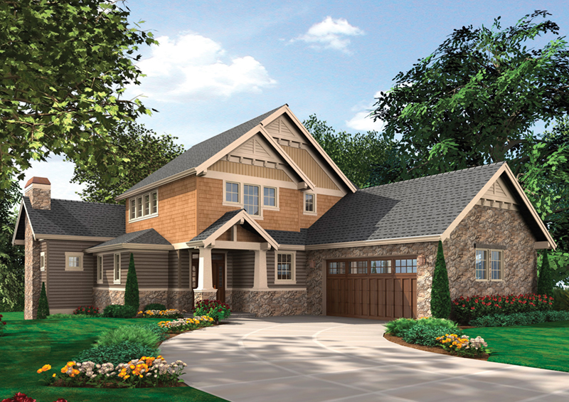 Shingle House Plan Front Of Home   011S 0143 | House Plans And More