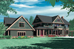 Shingle House Plan Color Image of House - 011S-0155 | House Plans and More