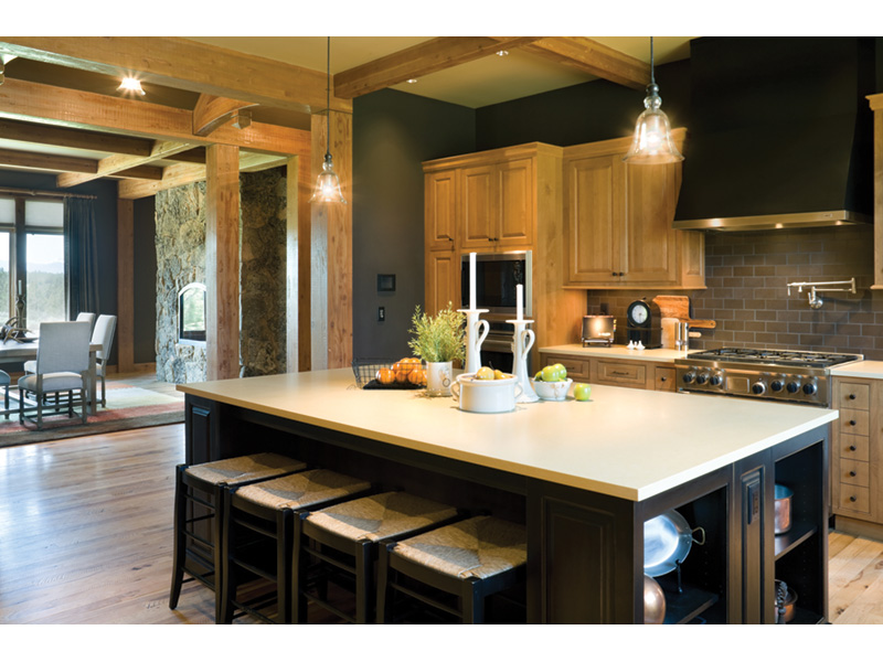 Craftsman House Plan Kitchen Photo 01 - Montelle Hill Luxury Home Plans with Two Master Suites