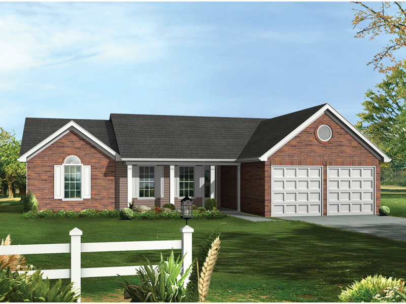 Ranch House Plan Front of Home - 013D-0002 | House Plans and More