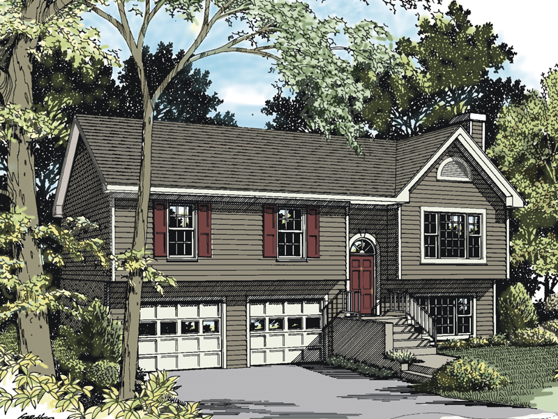Colonial House Plan Front of Home 013D-0005
