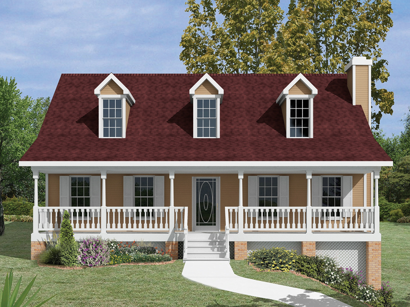 Acadian House Plan Front of Home 013D-0011