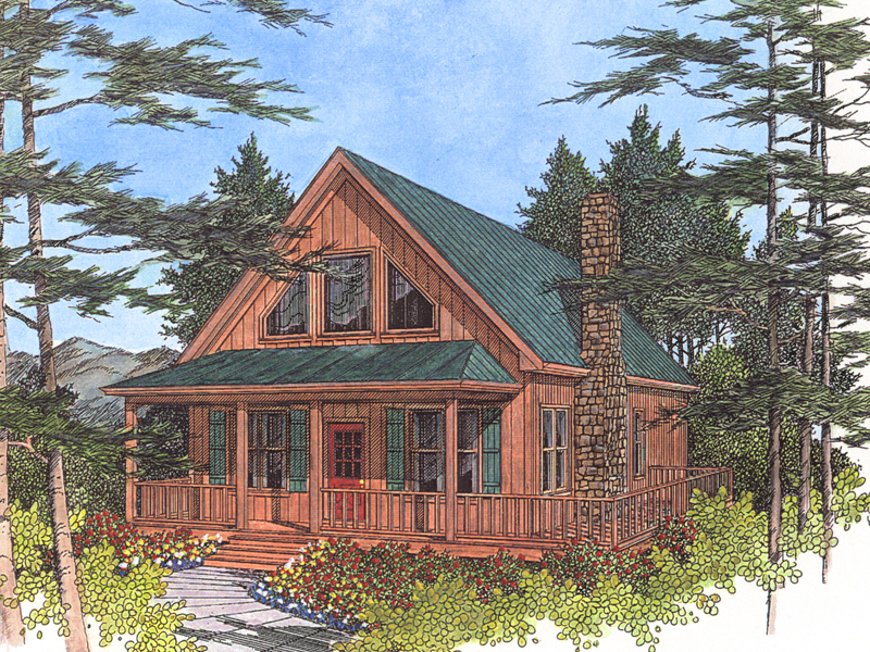cabin cottage house plan front image 013d 0012 house plans and more