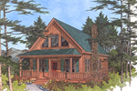 Cabin & Cottage House Plan Front Image - 013D-0012 | House Plans and More