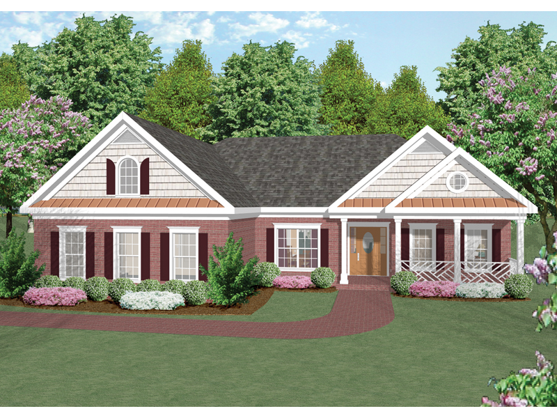 Ranch House Plan Front Image 013D-0015