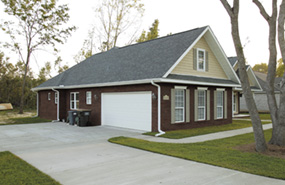 ranch house plan with side entry garage