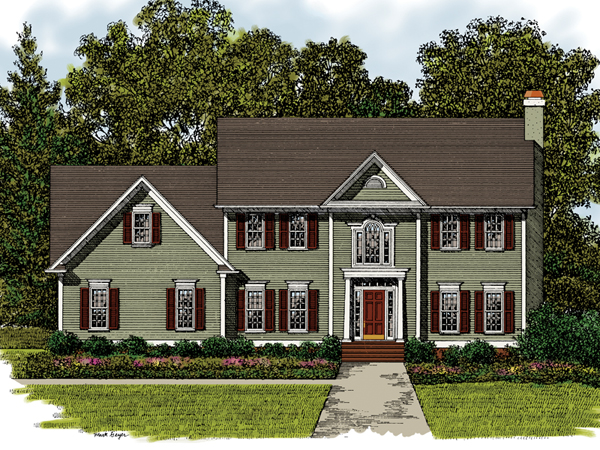 Meridian Place Georgian Home Plan 013D-0017