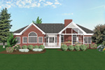 Neoclassical Home Plan Rear Photo 01 - 013D-0019 | House Plans and More