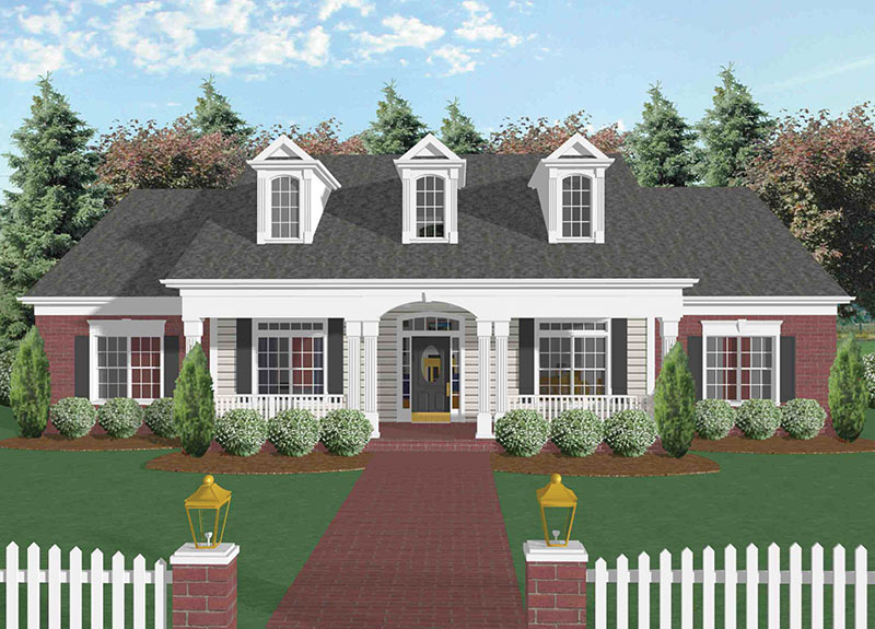 Acadian House Plan Front Image - 013D-0022 | House Plans and More