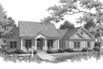 Southern House Plan Front Image of House - 013D-0025 | House Plans and More