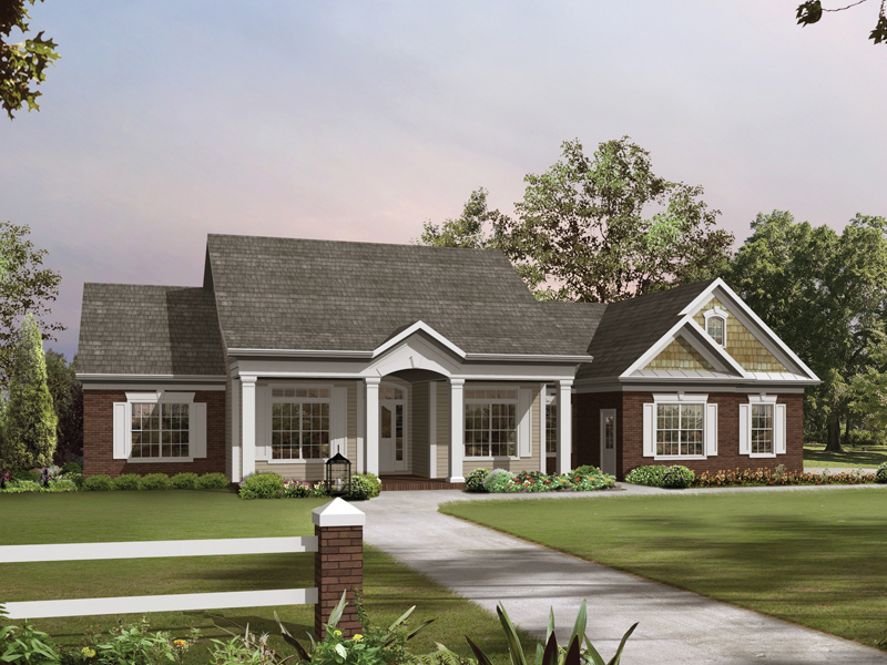 Traditional House Plan Front of Home 013D-0027