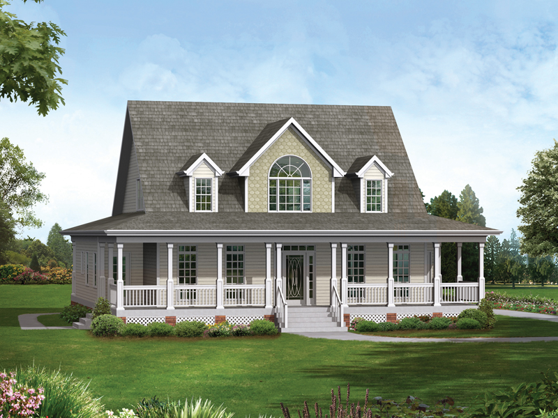 Bungalow House Plan Front of Home 013D-0028
