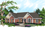 Traditional Ranch Home With Decorative Quoins