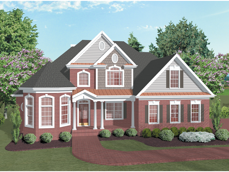Traditional House Plan Front Image 013D-0031