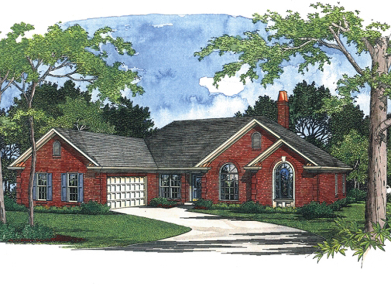 Ranch House Plan Front Image 013D-0032