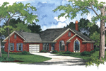 Southern House Plan Front Image - 013D-0032 | House Plans and More