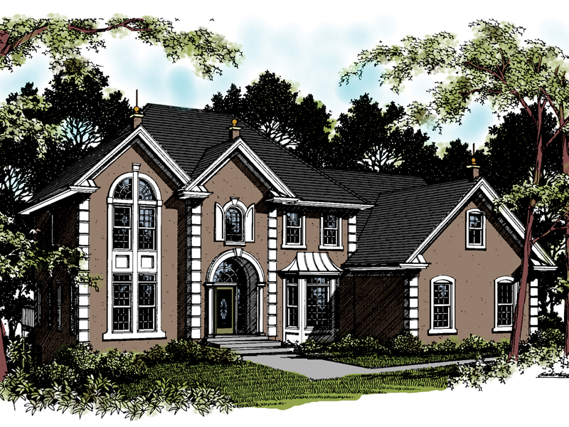 Traditional House Plan Front of Home 013D-0041