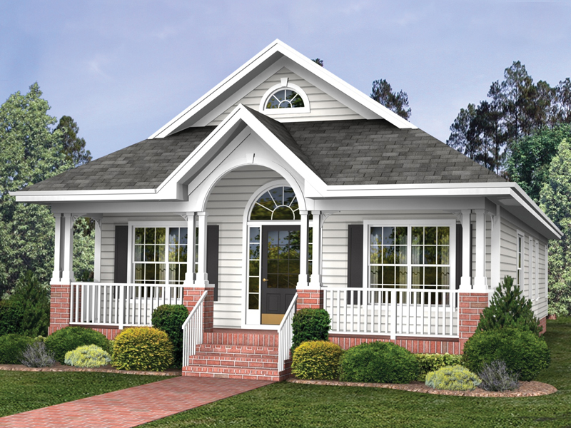 Ranch House Plan Front of Home 013D-0044