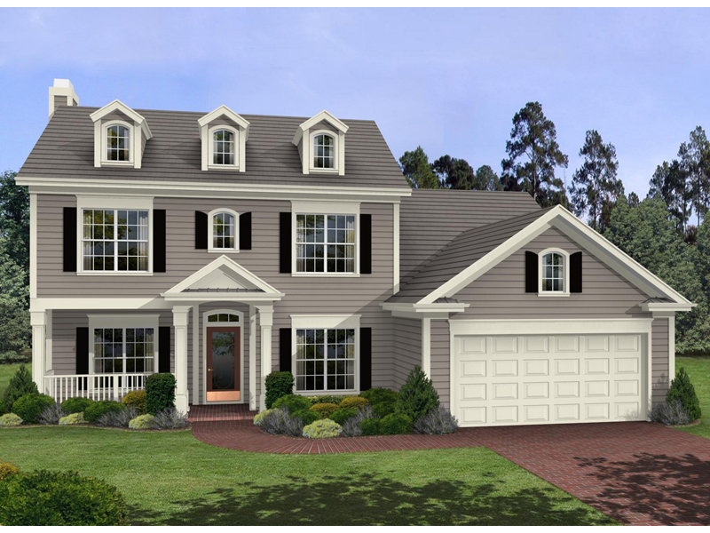 Georgian House Plan Front of Home 013D-0045