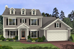 Traditional Two-Story With Charming Trio Of Dormers