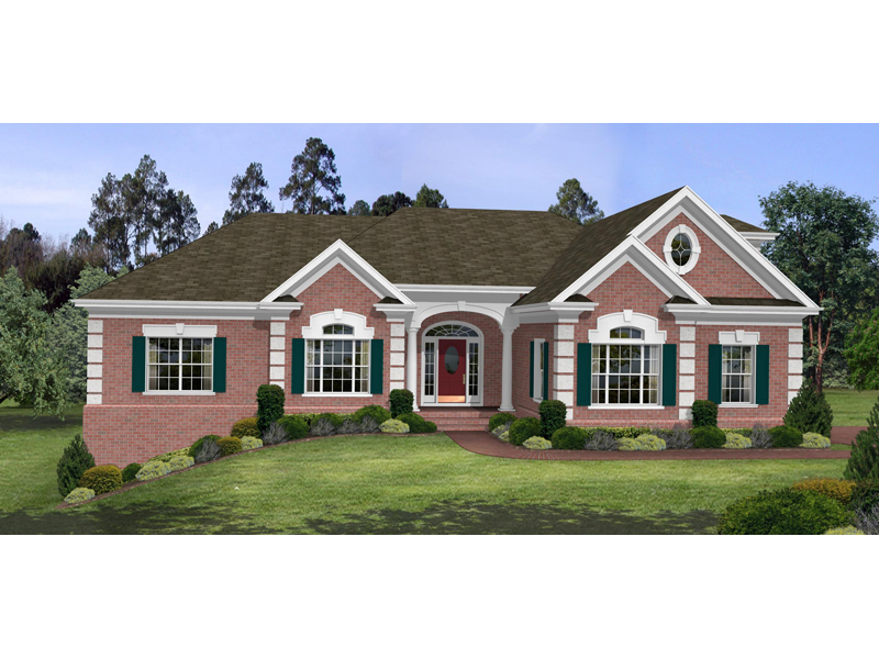 Country French Home Plan Front Image - 013D-0053 | House Plans and More