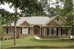 Ranch House Plan Front of Home - 013D-0053 | House Plans and More
