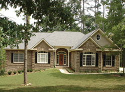 exterior of one-story home plan