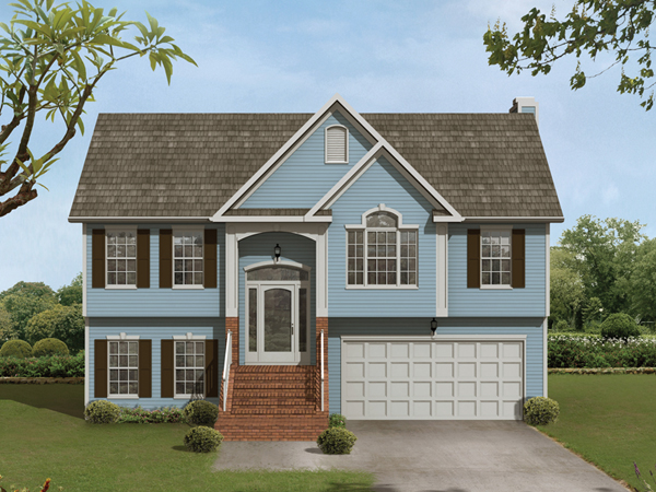 Whitney place split level home plan 013d 0054 house for Bi level house with front porch