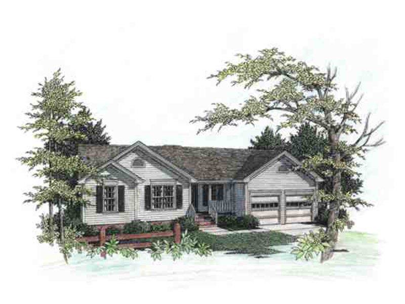 Ranch House Plan Front Image - 013D-0057 | House Plans and More
