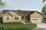 Multiples Gables Add Curb Appeal To This Ranch Home Plan