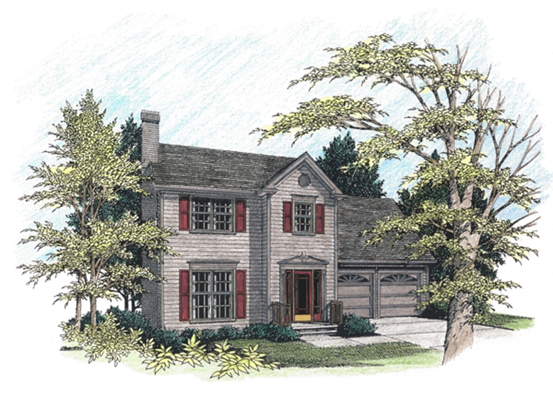 Colonial Floor Plan Front Image - 013D-0064 | House Plans and More