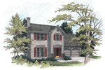 Colonial House Plan Front Image - 013D-0064 | House Plans and More