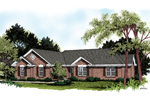 Brick Ranch Home With Multiple Gables
