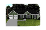 Pleasant Ranch Design With Multiple Gables Across The Front Exterior