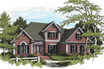 Brick Two-Story Home With Traditional Touch