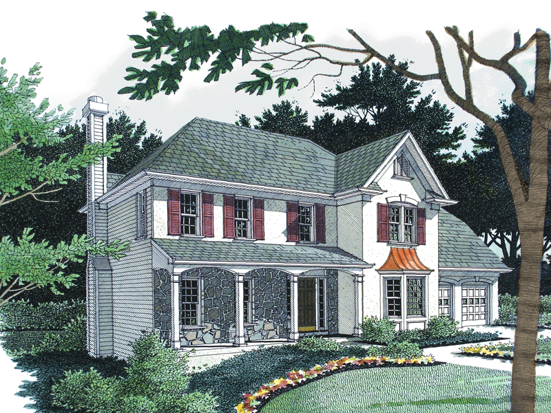 Colonial Floor Plan Front Image - 013D-0082 | House Plans and More