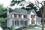 Colonial House Plan Front Image - 013D-0082 | House Plans and More