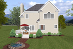 Sunbelt Home Plan Color Image of House - 013D-0083 | House Plans and More
