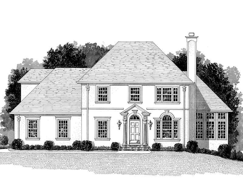 Country French Two-Story Home