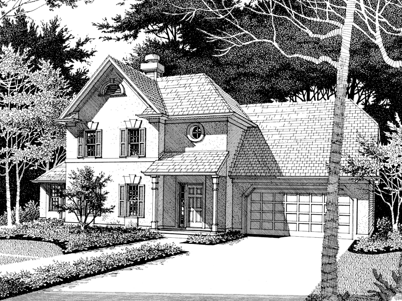 Southern House Plan Front of Home - 013D-0097 | House Plans and More