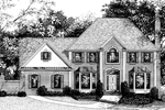 Georgian House Plan Front Image of House - 013D-0102 | House Plans and More