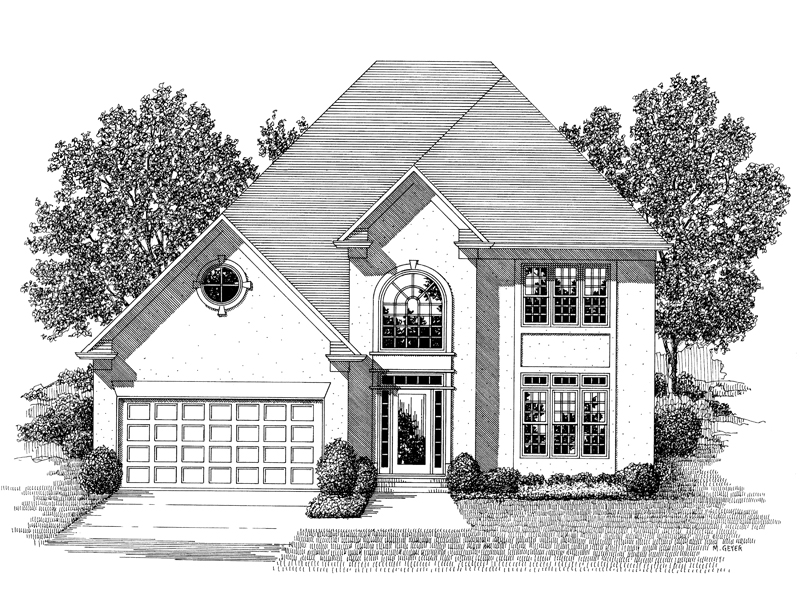 Florida House Plan Front Image of House - 013D-0104 | House Plans and More