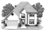Colonial House Plan Front Image of House - 013D-0104 | House Plans and More