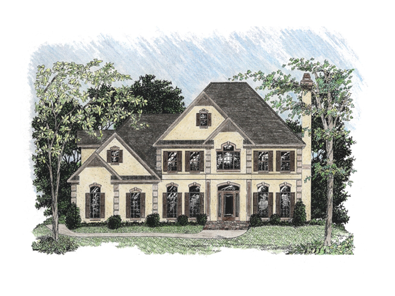 Georgian House Plan Front of Home - 013D-0108 | House Plans and More
