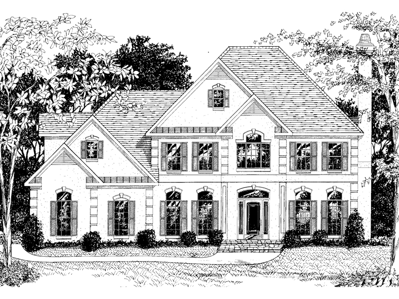 Greek Revival Home Plan Front Image of House - 013D-0108 | House Plans and More