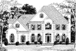 Georgian House Plan Front Image of House - 013D-0108 | House Plans and More