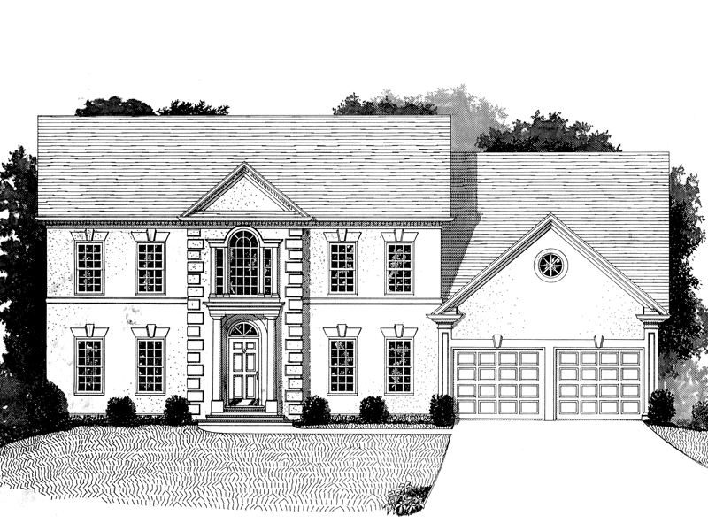 Georgian House Plan Front Image of House - 013D-0109 | House Plans and More