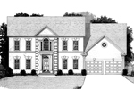 Colonial House Plan Front Image of House - 013D-0109 | House Plans and More