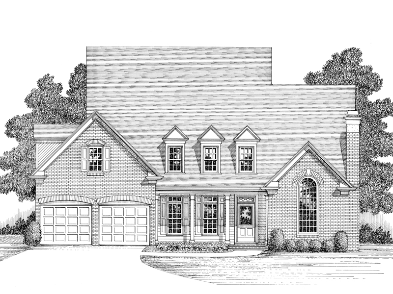 Traditional House Plan Front Image of House - 013D-0110 | House Plans and More